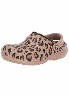 Crocs Classic Printed Leopard Lined Clog Shoe  7 US Women / 5 US Men M US