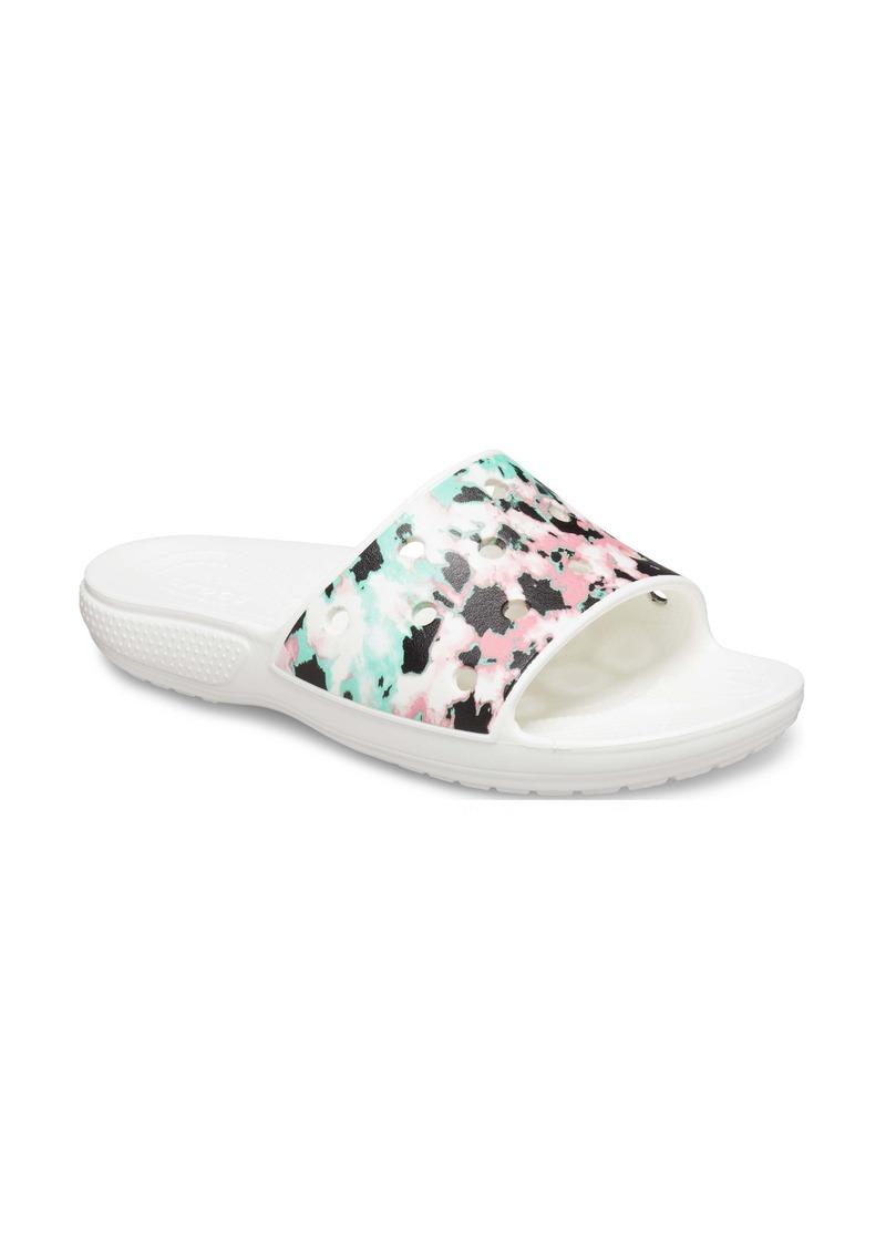 CROCS™ Classic Tie Dye Mania Slide Sandal (Women)