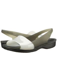Crocs Color Block Translucent Slingback Flat