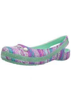 Crocs Girls' Genna II Graph Sparkle Sling K Ballet Flat