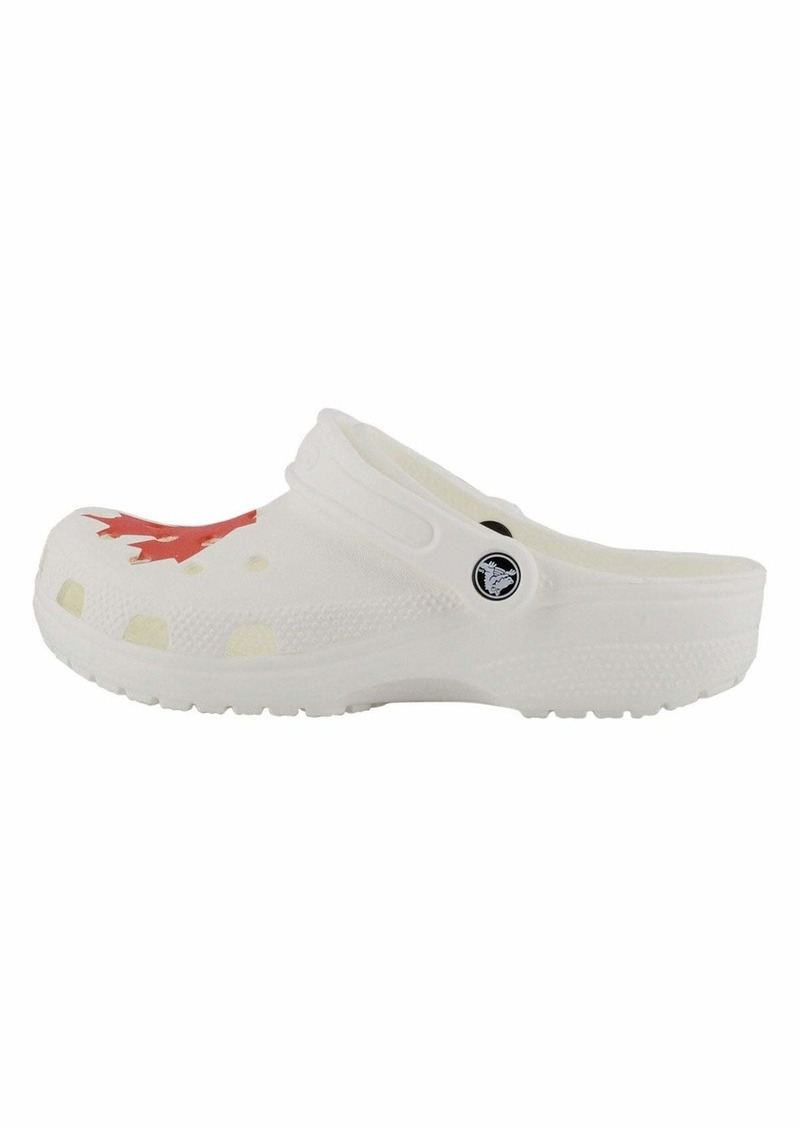 Crocs womens Classic Canadian Flag | Casual Comfort Slip on Shoe Clog  7 Women 5 Men US