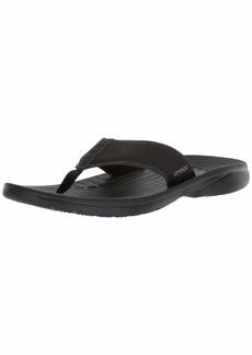 Crocs Men's Bogota Flip Flop Black  M US