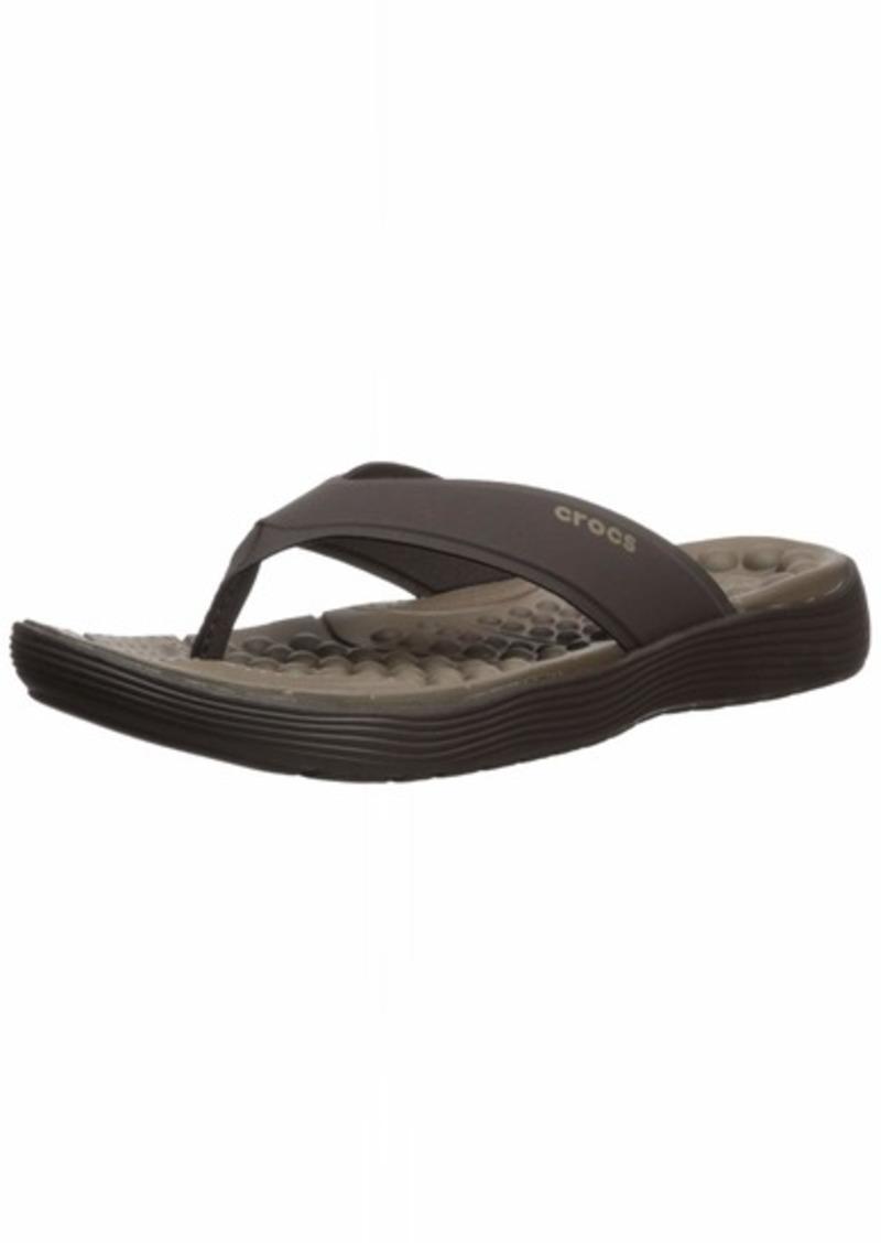 Crocs Men's Reviva Flip Flop Espresso  M US