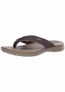 Crocs Men's Santa Cruz Canvas Flip Flop   M US