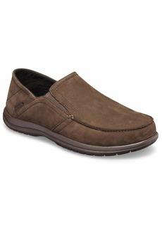 Crocs Men's Santa Cruz Convertible Leather Slip-On Loafer Flat espresso/espresso