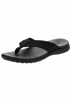 Crocs Men's Santa Cruz Leather Flip Flop   M US