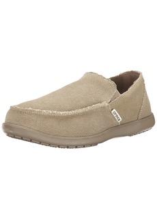 Crocs Men's Santa Cruz Loafer Casual Comfort Slip On Lightweight Beach or Travel Shoe Khaki 9 US Men