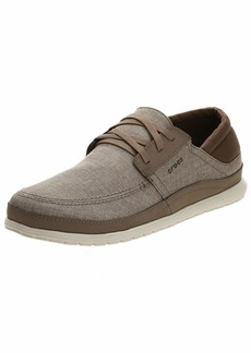 Crocs Men's Santa Cruz Playa Lace-Up Sneaker   Comfortable Casual Loafer   M US