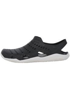 Crocs mens Swiftwater Wave Sandal black/pearl white  M US