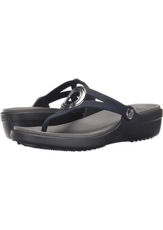 Crocs Sanrah Beveled Circle Wedge Flip