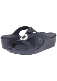 Crocs Sanrah Beveled Circle Wedge Sandal