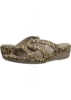 Crocs Sanrah Graphic Strappy Wedge