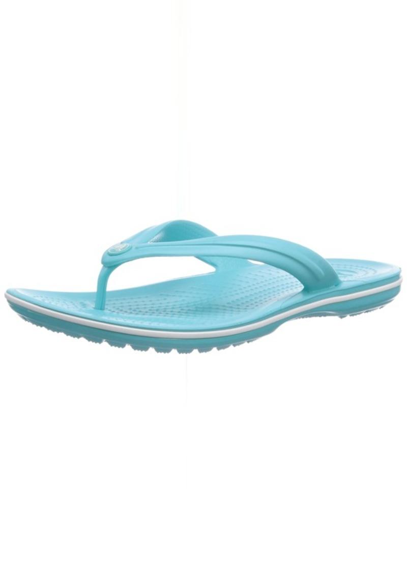 Crocs Crocband Flip Flop pool/white 10 M US Women / 8 M US Men