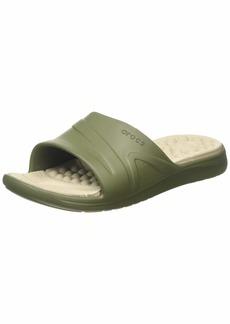 Crocs Unisex Men's and Women's Reviva Slide Sandal  12 US