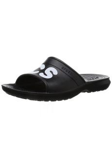 Crocs Unisex's Classic Graphic Slide Flat Sandal  12 US Men / 14 US Women