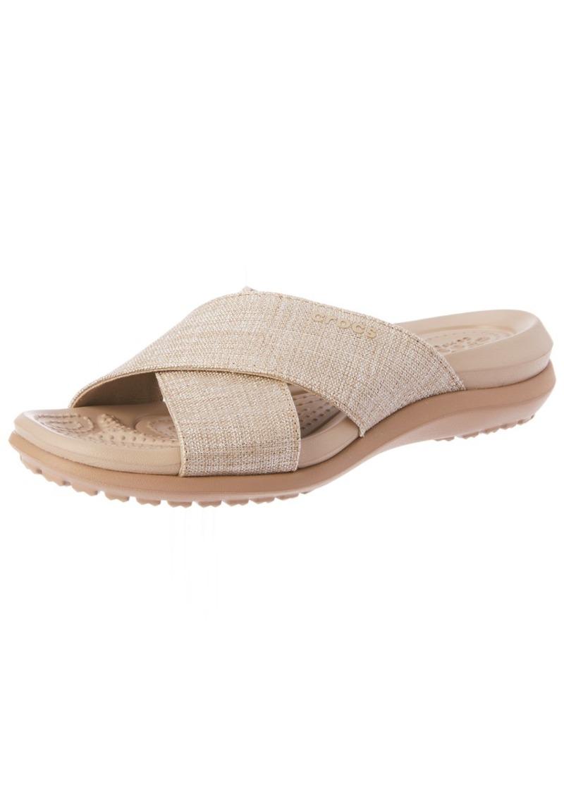 Crocs Women's Capri Shimmer Xband Sandal   M US