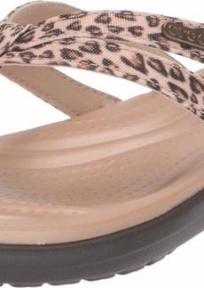 Crocs Women's Capri Strappy Flip Flop | Casual Comfortable Lightweight Beach Shoe   M US