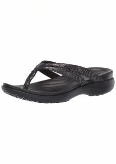 Crocs Women's Capri Strappy Flip Flop Black  M US