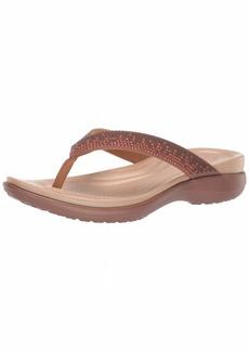 Crocs Women's Capri V Diamante Flip Flop melon ombre/bronze  M US