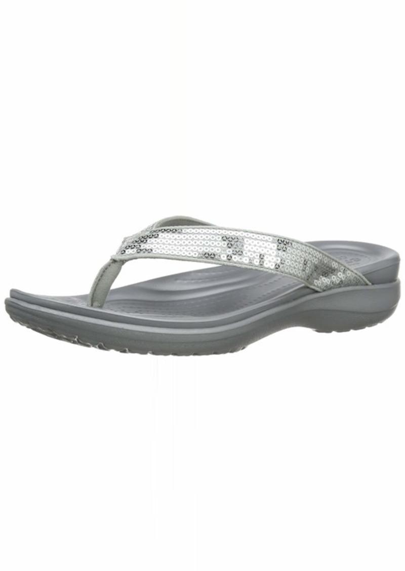 crocs Women's Capri V Sequin W Flip Flop   M US
