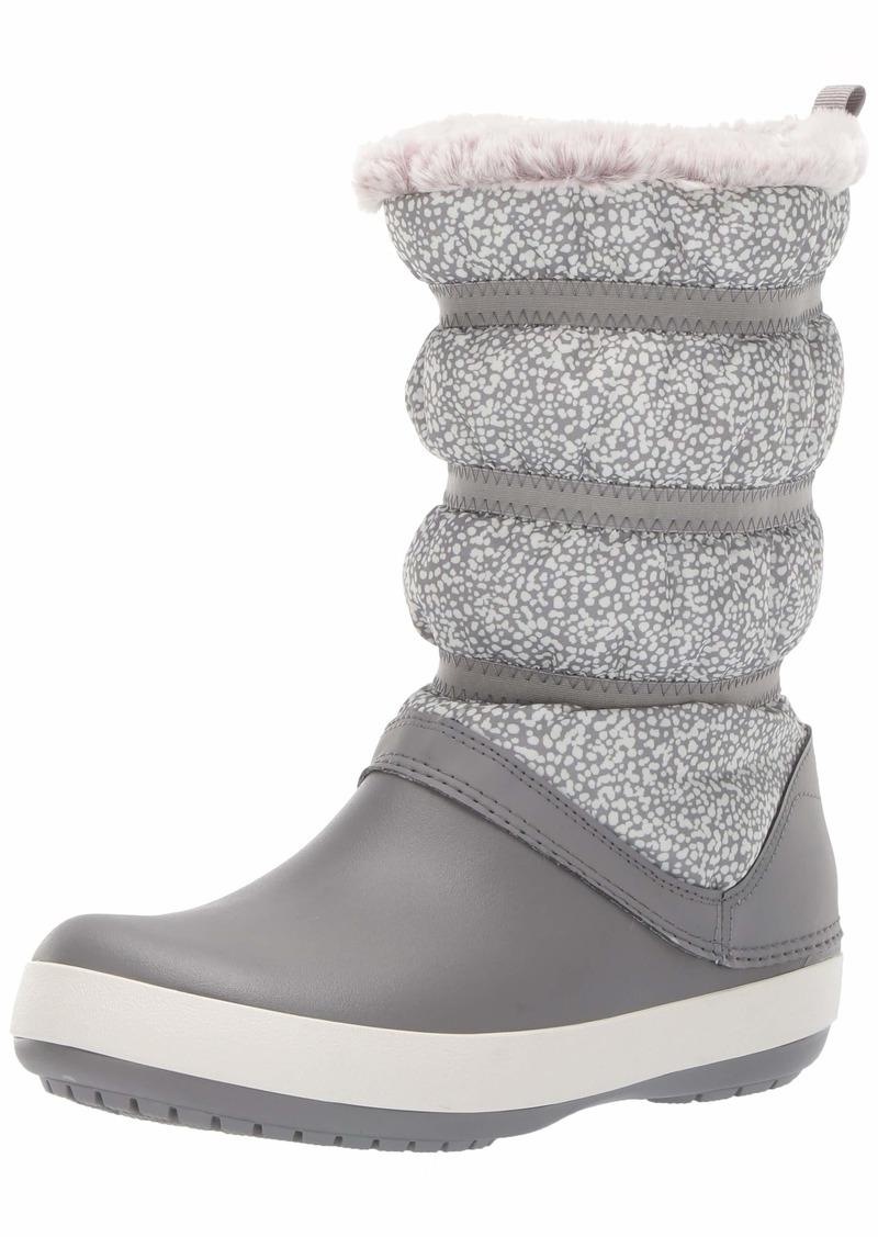 Crocs Women's Crocband Winter Boot W Snow dots/Smoke  M US