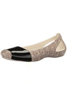 crocs Women's Crocssienna Shiny Animal Print Flat