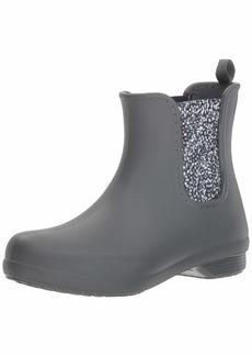 Crocs Women's Freesail Chelsea Boot Rain Slate Grey/dots