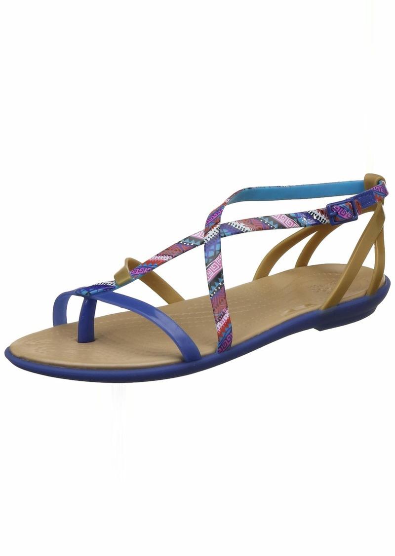 crocs Women's Isabella Gladiator Flat Sandal   M US