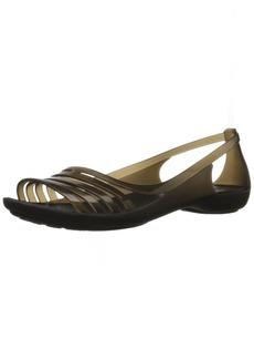 crocs Women's Isabella Huarache Flat W Jelly Sandal