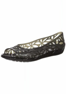 Crocs Women's Isabella Jelly II Flat W Sandal Black  M US