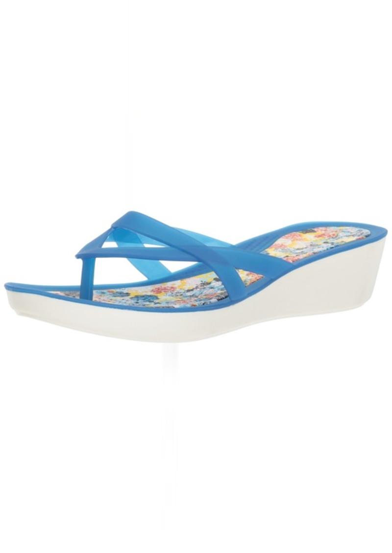 Crocs Women's Isabella Print Wedge Flip Flop   M US