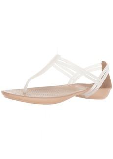 Crocs Women's Isabella T-Strap Flat Sandal