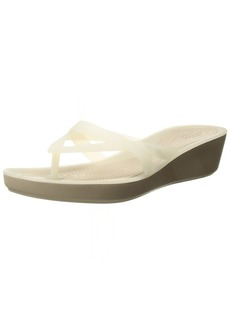 Crocs Women's Isabella Wedge W Flip Flop