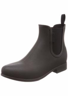 Crocs Women's Leigh Chelsea Rain Boot Black  M US
