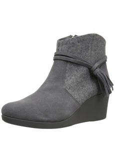 Crocs Women's Leigh Suede Mix Wedge Bootie Ankle   M US