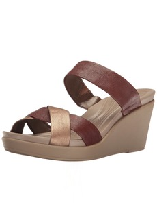 Crocs Women's Leighann Leather Wedge Sandal