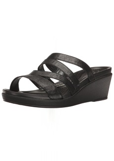 Crocs Women's Leighann Mini Lthr Wedge Sandal