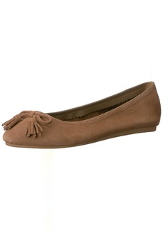 crocs Women's Lina Embellished Suede Ballet Flat