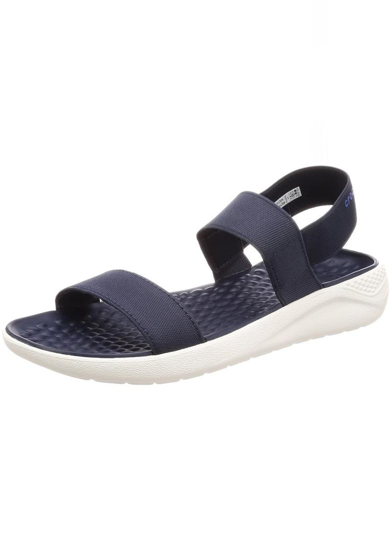 Crocs Women's LiteRide Sandal navy/white  M US