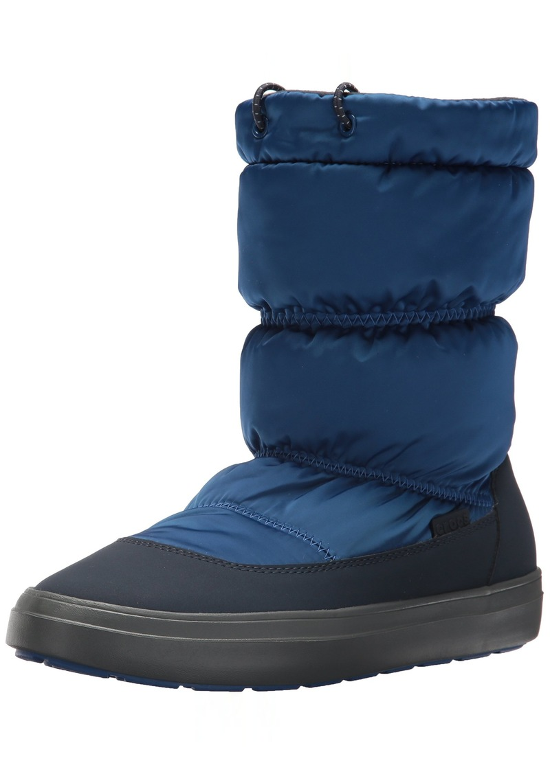 Crocs Women's LodgePoint Shiny Pull-on W Snow Boot   M US