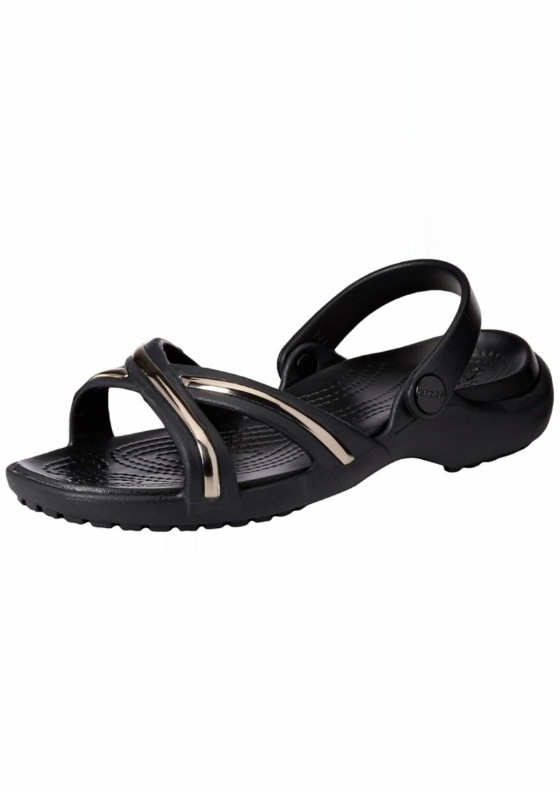 Crocs Women's Meleen MetalBlock Cross-Band Slide Sandal   M US