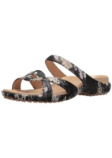 crocs Women's Meleen Twist Graphic Flat Sandal   M US
