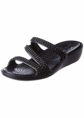 Crocs Women's Patricia Diamante Sandal Slide Black  M US