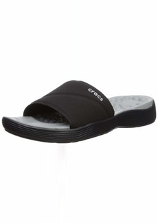 Crocs Women's Reviva Slide Sandal Black  M US