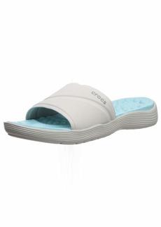 Crocs Women's Reviva Slide Sandal Pearl White  M US