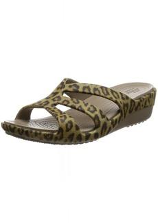 Crocs Women's Sanrah Graphic Strappy Wedge Sandal