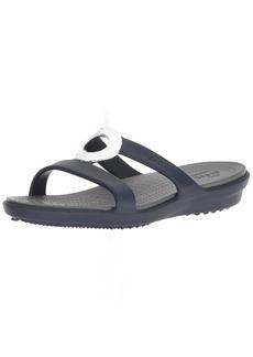 Crocs Women's Sanrah Hammered Met W Flat Sandal