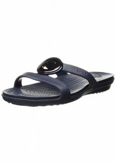 Crocs Women's Sanrah MetalBlock Sandal Slide   M US