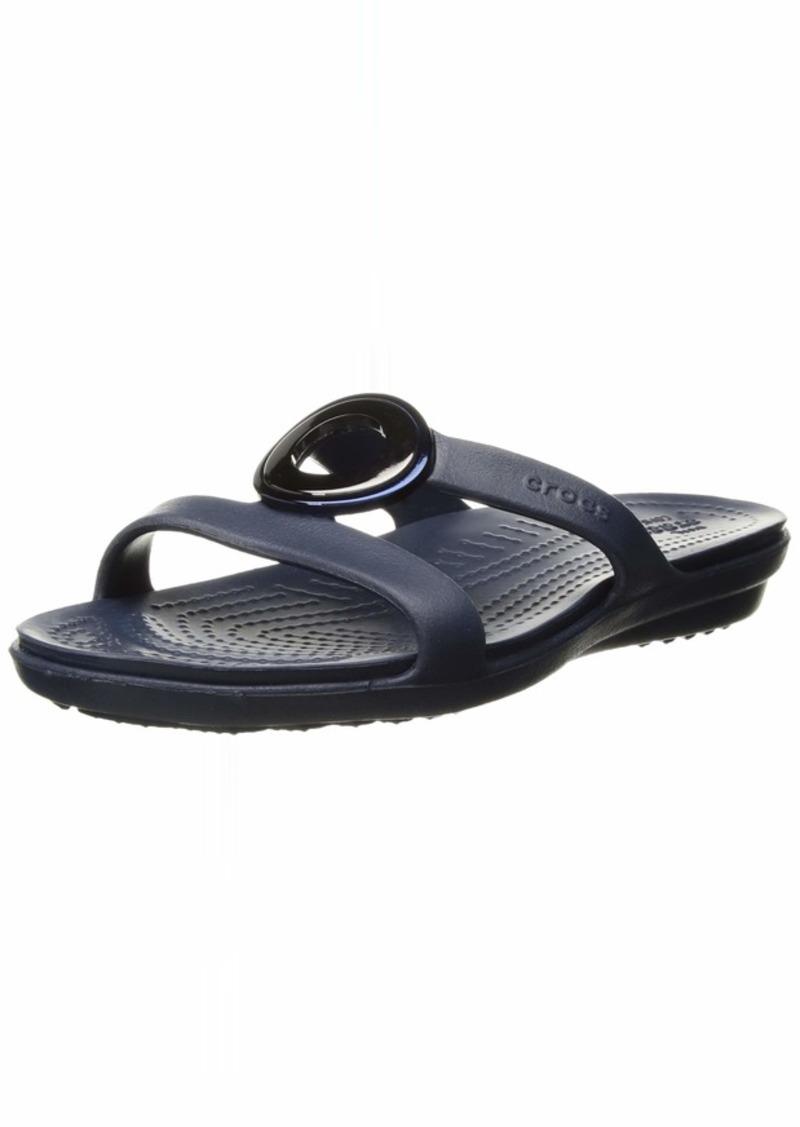 Crocs Women's Sanrah MetalBlock Sandal Slide   M US
