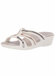 Crocs Women's Sanrah MetalBlock Strap Wedge Sandal   M US
